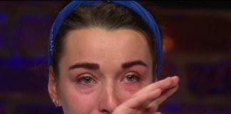 Camille Maury en pleurs, après son élimination
