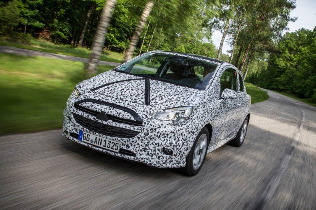 Opel Corsa lors d'un test d'essai