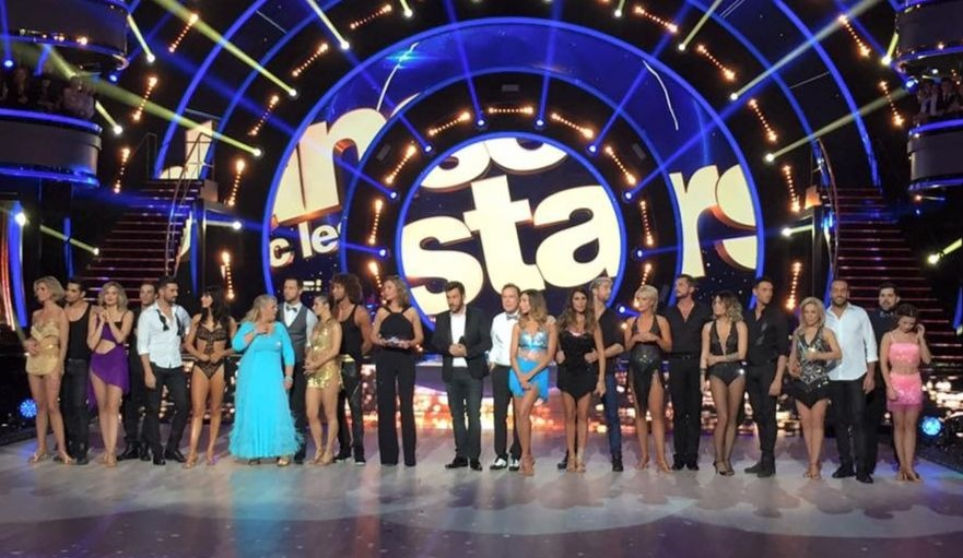 Tout le jury et les danseurs réunis sur le podium, lors de la finale de Danse avec les stars 2018