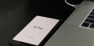Un écran de portable affichant le service Google Pay