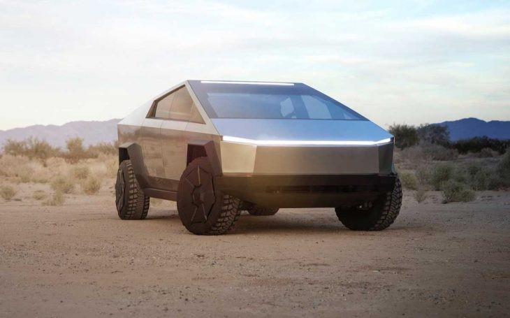 Cybertruck de Tesla et son design venu de la planète Mars.