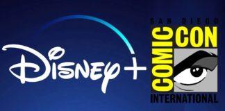 Une affiche de Disney+ sur le Comic-Con 2020, avec le logo du groupe.