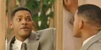 Will Smith devant son miroir, dans la sitcom culte Le Prince de Bel-Air.