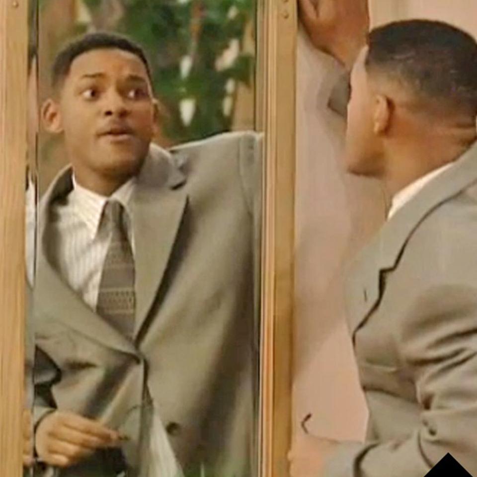 Will Smith devant son miroir, dans la sitcom culte Le Prince de Bel-Air.